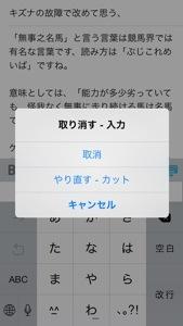 iPhoneで「ctl+z」をしたい場合はiPhoneをシェイクするだけ!