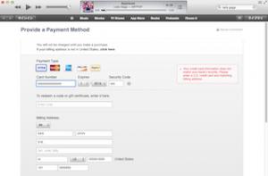 アメリカのiTunesは日本のクレジットカードを登録出来ません
