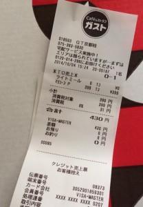 ガストのマルゲリータの価格