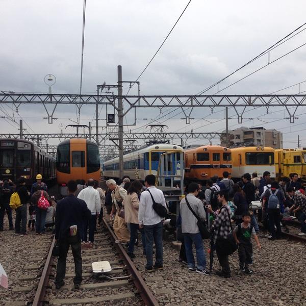 きんてつ鉄道祭り五位堂検修車庫付近の駐車場情報!