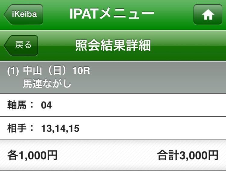 ジェンティルドンナの単勝を1万円買うつもりだったのに!