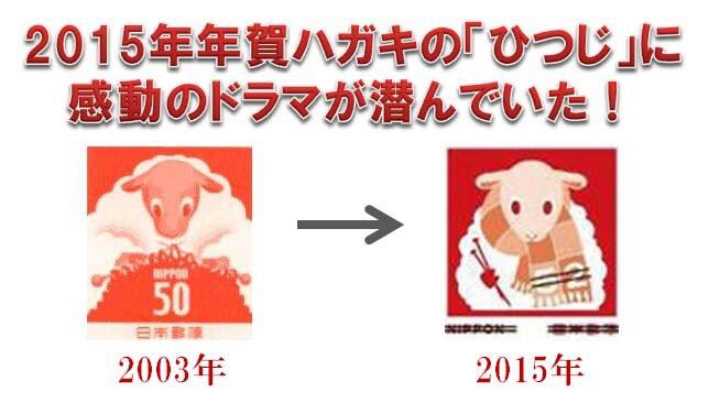 2015年の年賀状の羊のイラストは2003年から考えられていました!