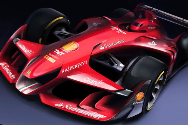 フェラーリの将来のF1カーのデザインが超絶に格好良い!