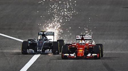 F1バーレーンGPで火花を散らしているマシンが多くてビックリした!
