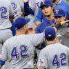 メジャーリーガーの背番号が全員「42」になっている!