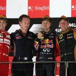 ベッテル、アロンソ、ライコネンの現役最強3人がシンガポールGPの表彰台を独占!