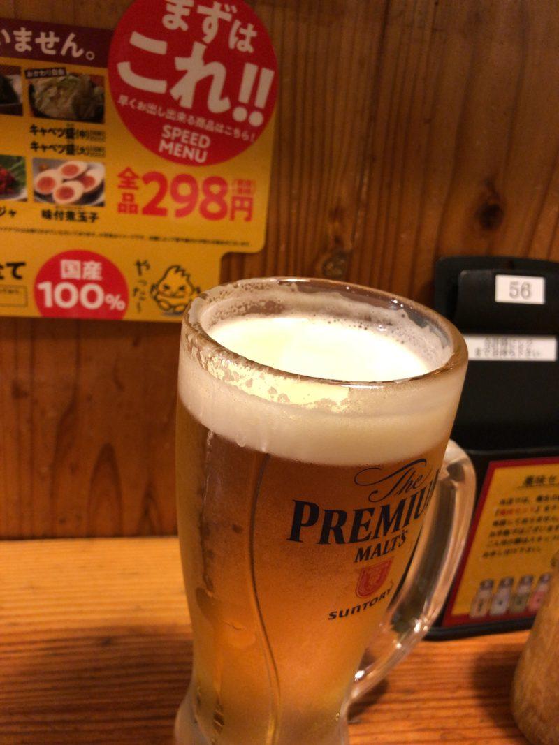 鳥貴族ビール